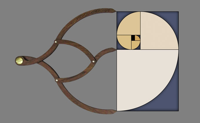 The golden rectangle is an expression of the golden ratio in two dimensions.