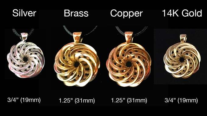 3D Cast Precious Metal Amulets