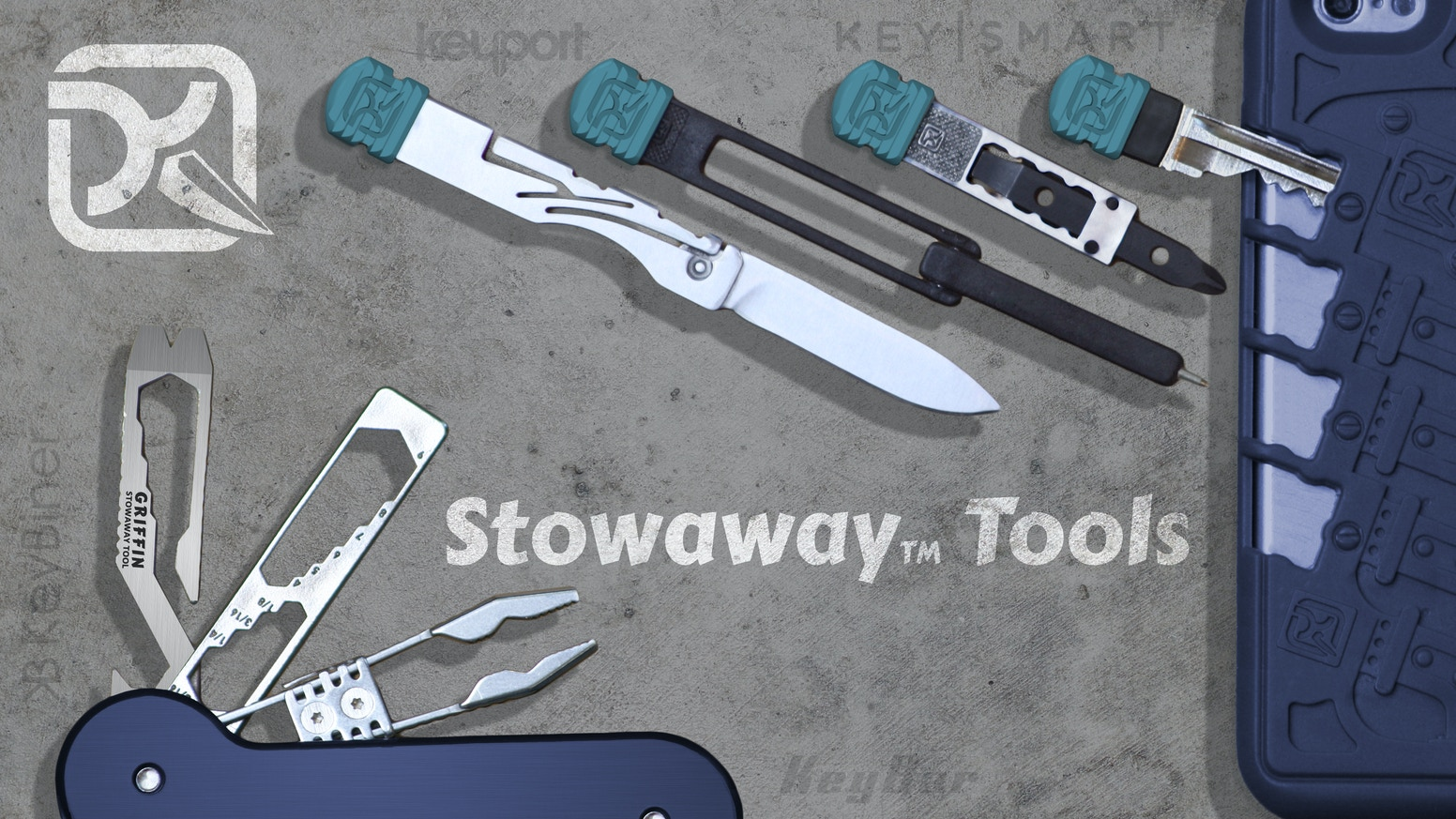 Stowaway Tools: The first tool line that tuck into every way that you EDC (Everyday Carry), Phone, Keys, KeyBar, KeyPort, KeySmart, Orbitkey and more!