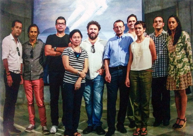 Clarky (3rd from left) in a book '10 Best Living Cuban Artists'