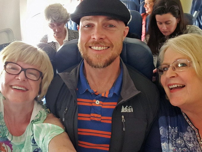 Aunt Jan (left), my mother (right) and me (center) on a recent trip to Cuba