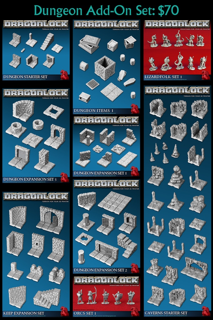 Add nine dungeon themed sets to your pledge for only $70!