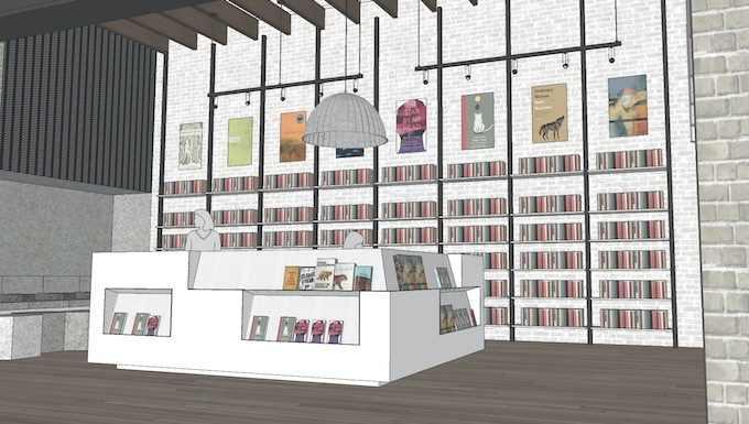 Milkweed Books will showcase books from many small, independent publishers, and will look more like a gallery than a library.