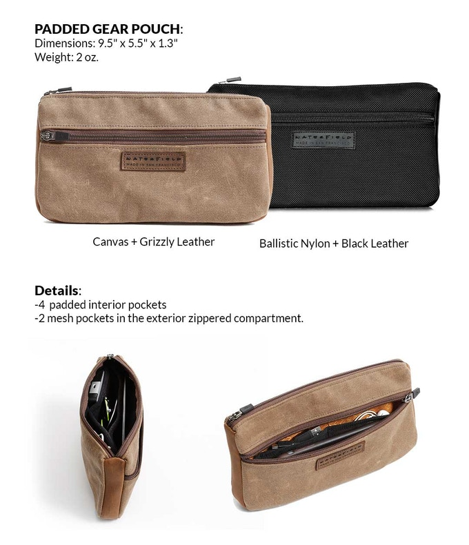 The Globetrotter Kit's Padded Gear Pouch