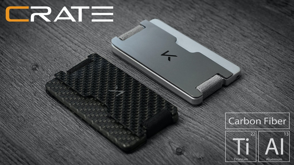 CRATE - Titanium | Carbon Fiber Multi-Mode Wallet by Narbeh ...