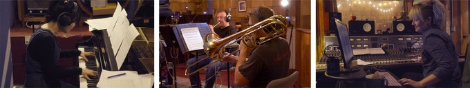 Minna on the grand / Brass tracking / Laura at the Neve