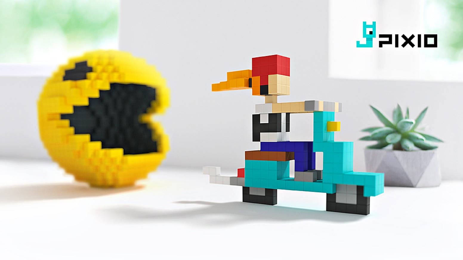 Pixio Magnetic Construction Set In The Pixel Art Style By Pixio