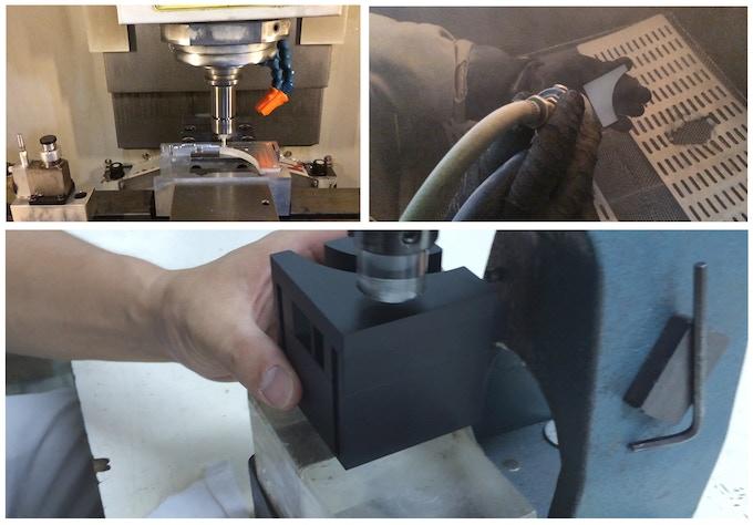 Precision machining of aluminum.