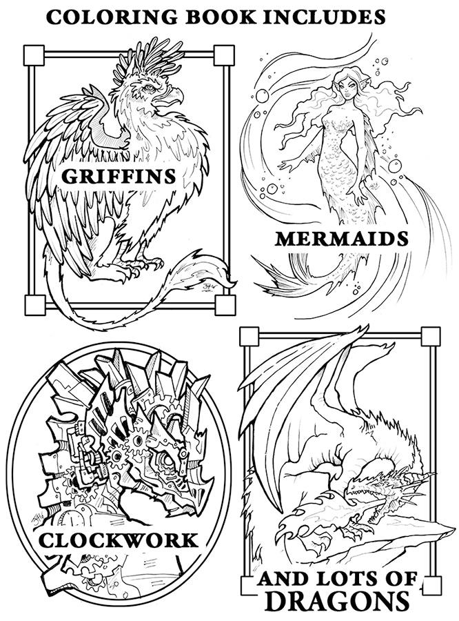 Fantastical Coloring Book II by Jessica Feinberg — Kickstarter