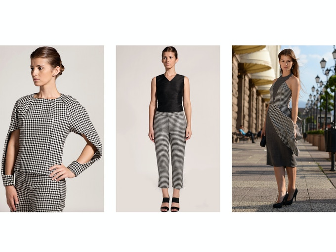 $500 Backer Level - Left: Eri Peace Silk Karina Top + Pepi Pant; Middle: Pepi Pant (Full View); Right: Eri Peace Silk/Merino Wool Sofia Dress
