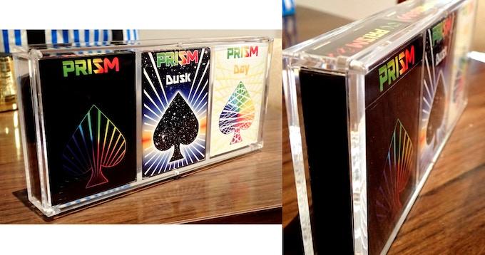 Prism Prototype Decks in the Carat 3X Display Case