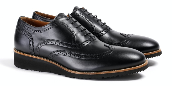 Men's Black Wingtip