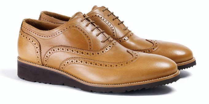 Men's Tan & Brown Wingtip