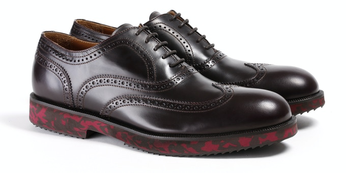 Men's Brown & Red Camo Wingtip