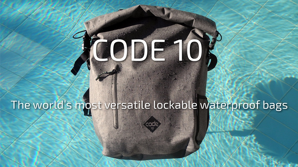 Code 10 - Waterproof, Theft-Proof, Tech-Ready backpacks project video thumbnail