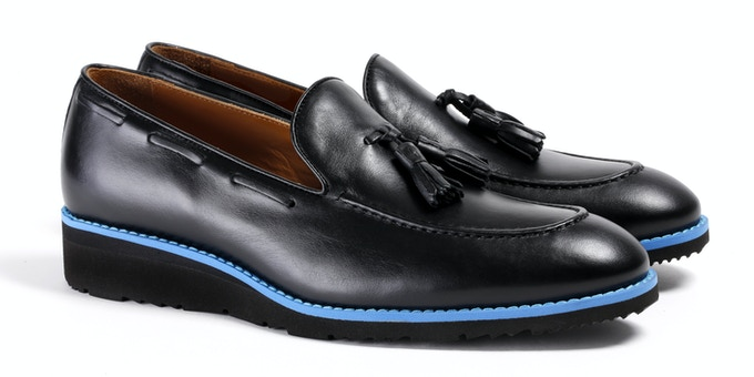 Men's Black & Blue Loafer