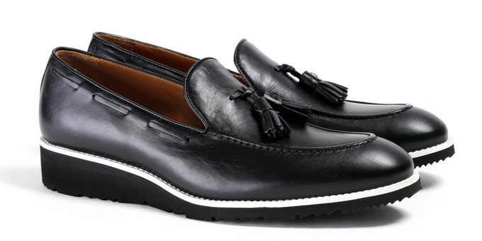 Men's Black & White Loafer