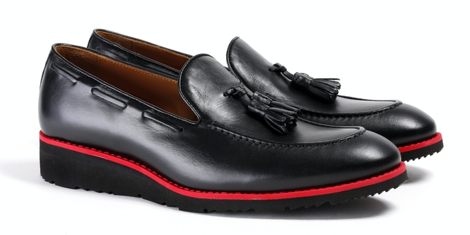 Men's Black & Red Loafer