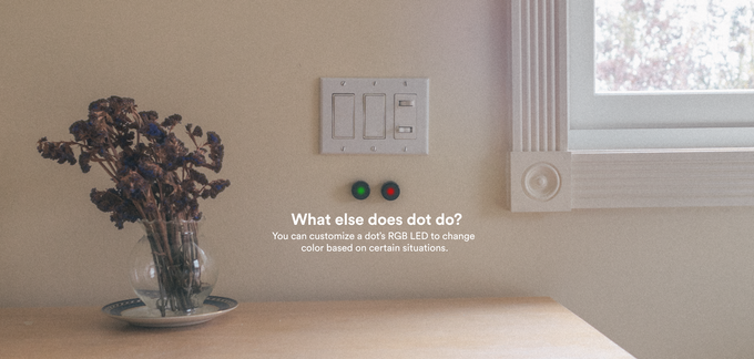 Complementary to smart notifications, Dot can act as a physical, glance-able signal.