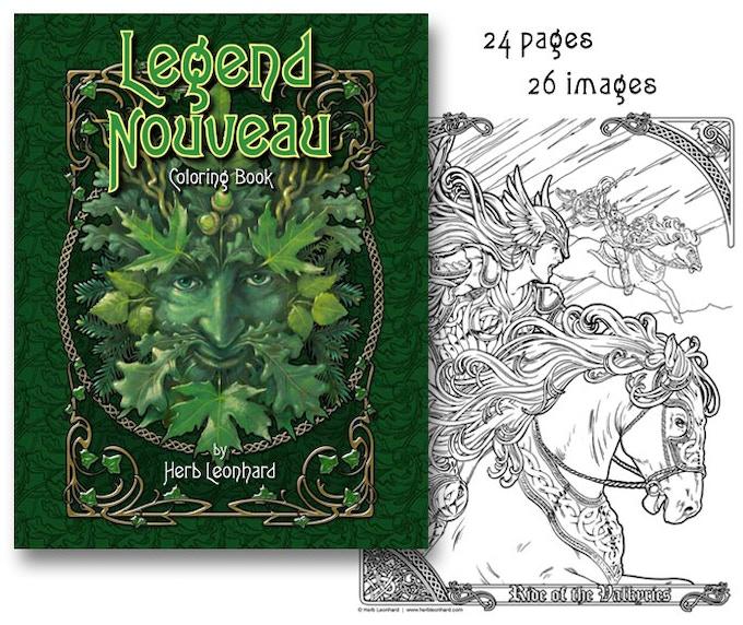 The new Legend Nouveau Coloring Book