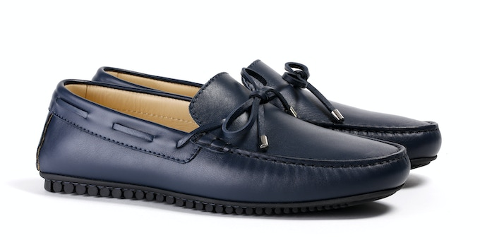 Men's Navy Mocassin