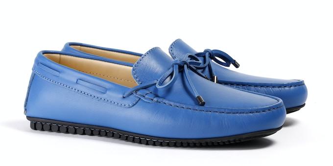 Men's Blue Mocassin