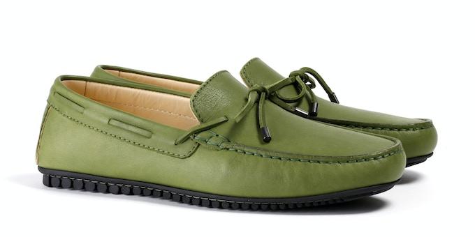 Men's Green Mocassin