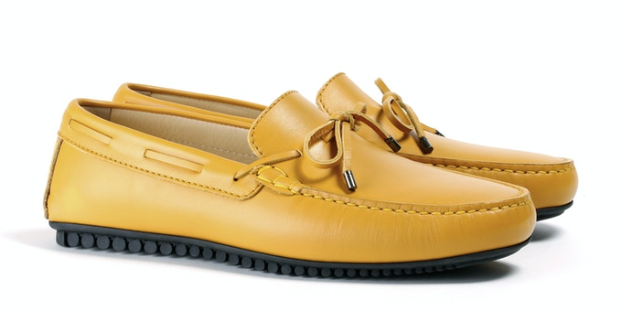 Men's Yellow Mocassin