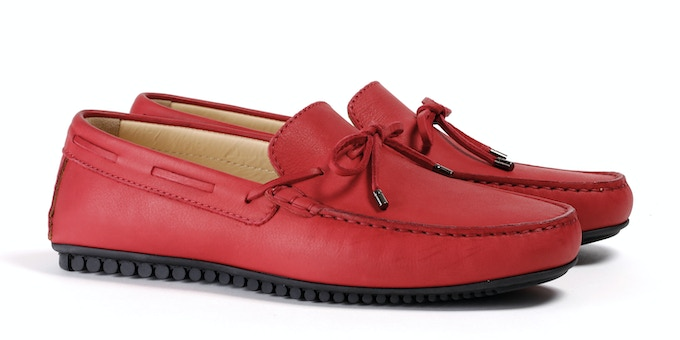 Men's Red Mocassin