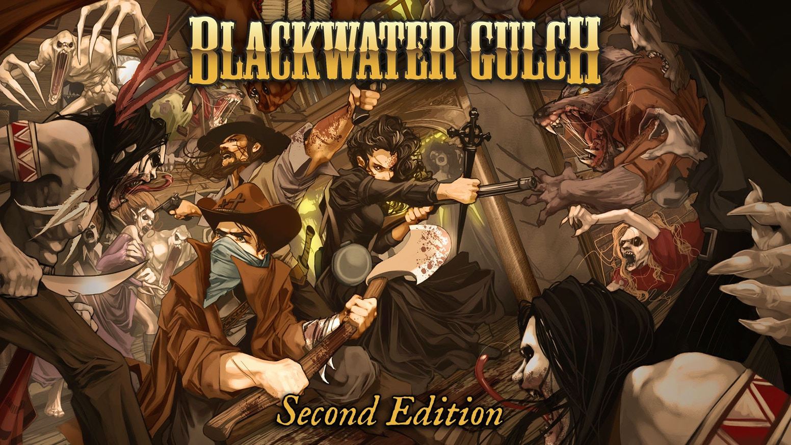 Blackwater Gulch is a Western Horror skirmish game featuring infamous gangs, savage beasts, ravenous dead and malevolent creatures.