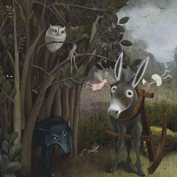 Original artwork for Behowl the Moon