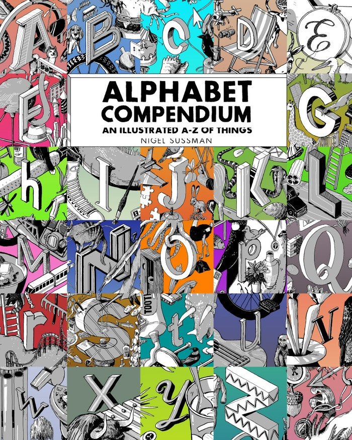 This is a unique alphabet book that features full-page, ultra-detailed, hand-drawn illustrations with an average of 100 items per letter for each of the 26 letters of the English alphabet.