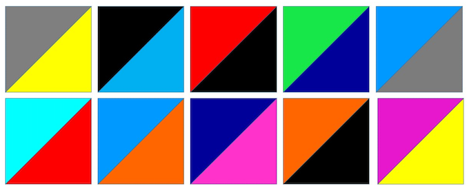 Possible Color Combinations