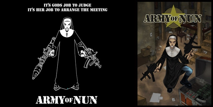 Army of Nun T-shirt, Mini Print and DMR free PDF