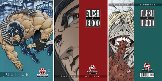 Printed Books for Justice, Flesh or Blood #1 & 2 and DMR Free PDFs