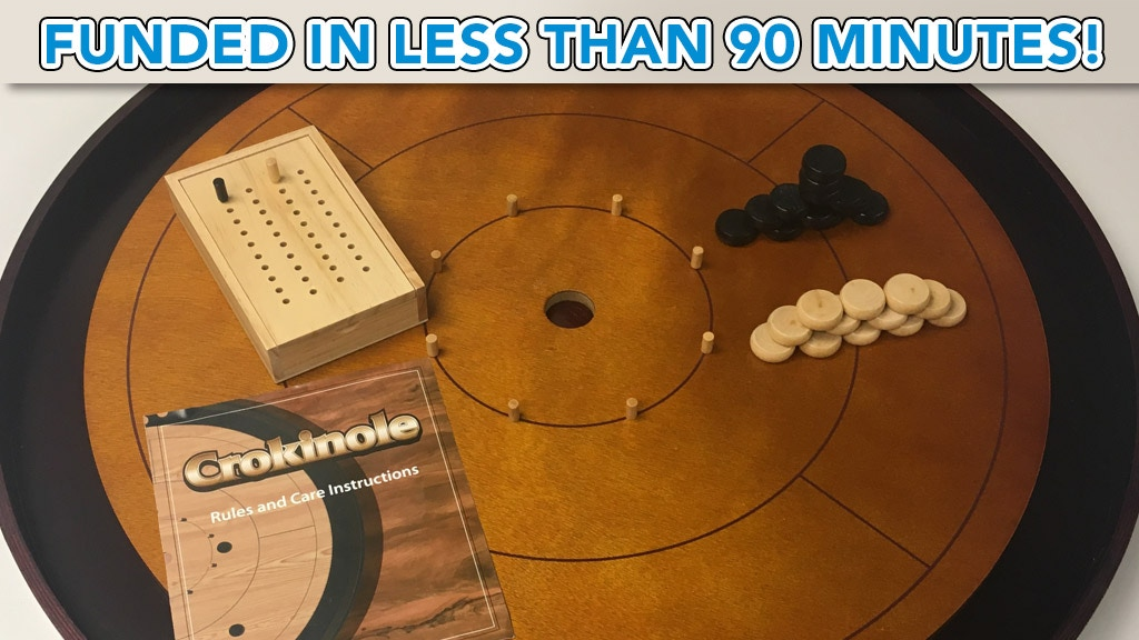 Crokinole 2017 Hardwood Edition 2-4 Player Dexterity Game project video thumbnail