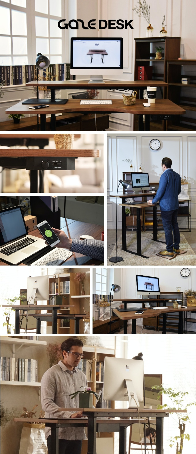 (See below for full details.) If you want a desk with a unique look and  advanced features, go for a dual lift smart model with a natural wood  surface.
