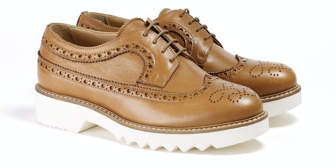Women's Tan Wingtip