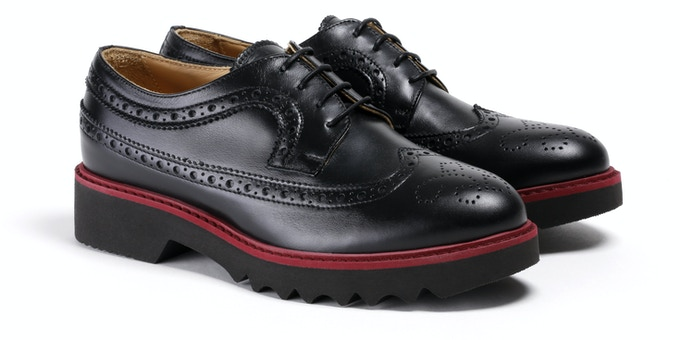 Women's Black & Oxblood Wingtip