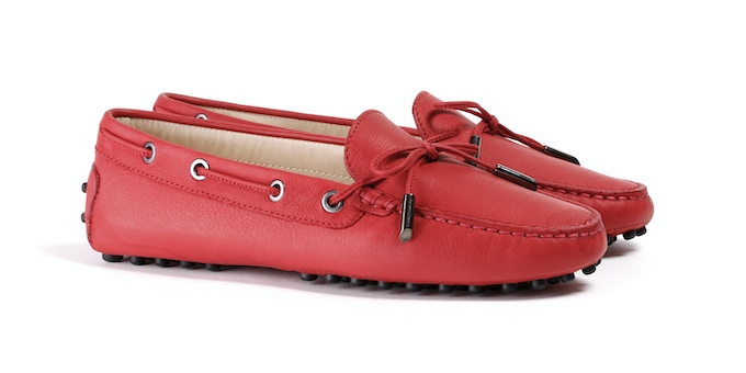 Women's Red Mocassin