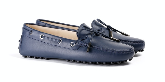 Women's Navy Mocassin