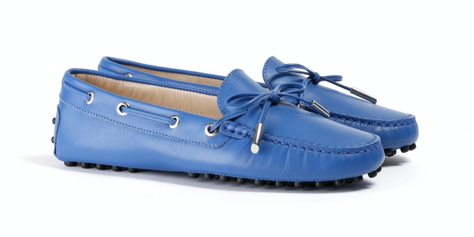 Women's Blue Mocassin