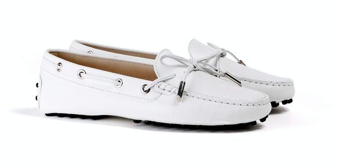 Women's White Mocassin