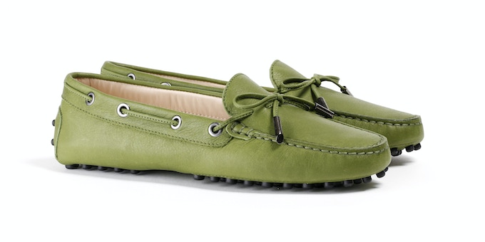 Woman's Green Mocassin