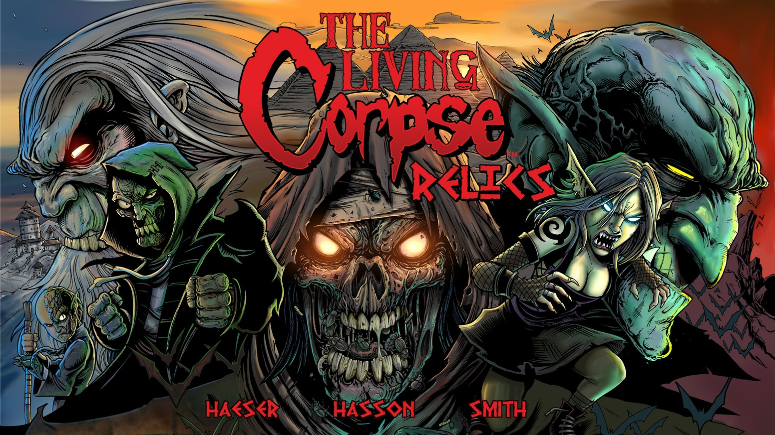 The Living Corpse: Relics a 160+ page original graphic novel by Ken Haeser, Buz Hasson and Blair Smith.