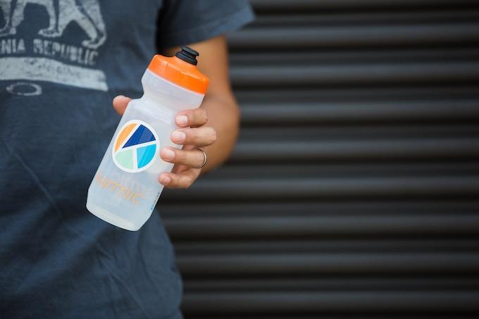 A custom Karmic bottle for those long rides.