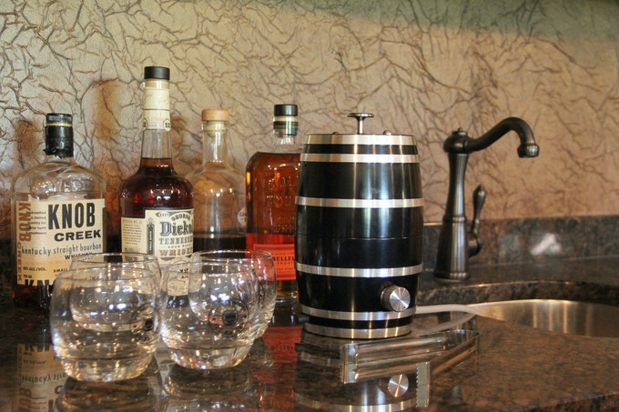 make your own ice ball, choose your favorite whiskey, scotch, bourbon or whatever your favorite may be.