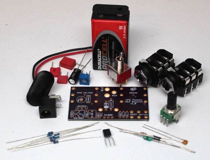 Booster DIY kit comes with all these components
