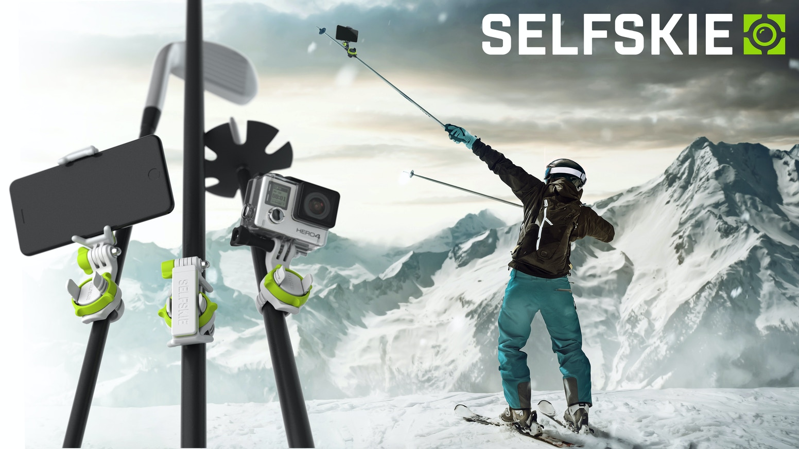 Best All-Round Smartphone & GoPro Mount That Transforms Any Stick | Ski Pole | Golf Club and More.. into a Selfiestick or Camera Stand