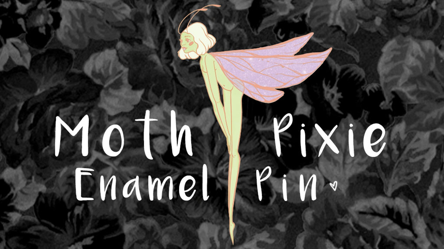 Creating my first ever original hard enamel pin. Help me start my pin creating journey and get this lovely Moth Pixie Pin produced!